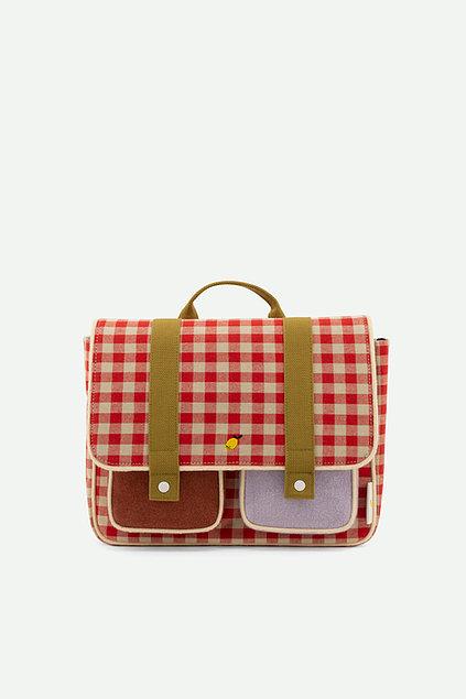 Sticky Lemon: School bag   gingham   poppy