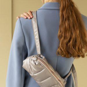 Tinne + Mia: Cilou puffy belt bag - Greige Gold