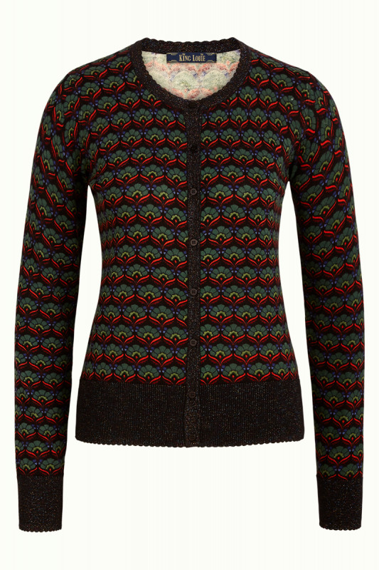 King Louie: Cardi Roundneck Muffin - Black