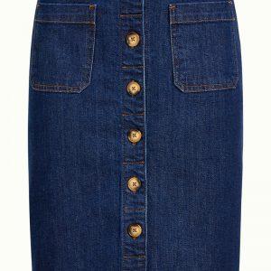 King Louie: Angie Pocket Skirt Golden Denim