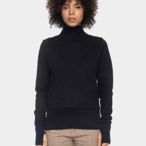ATO Berlin: Sweater JOLIEN zwart Pulli Jolien GOTS CO 27/054 BLK