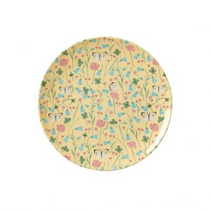 Rice: Gebaksbordje - Vlinders geel MELCP-ABUCR