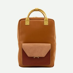 The Sticky Sis club: Backpack   coloré   sunset orange + brick red + dawn pink